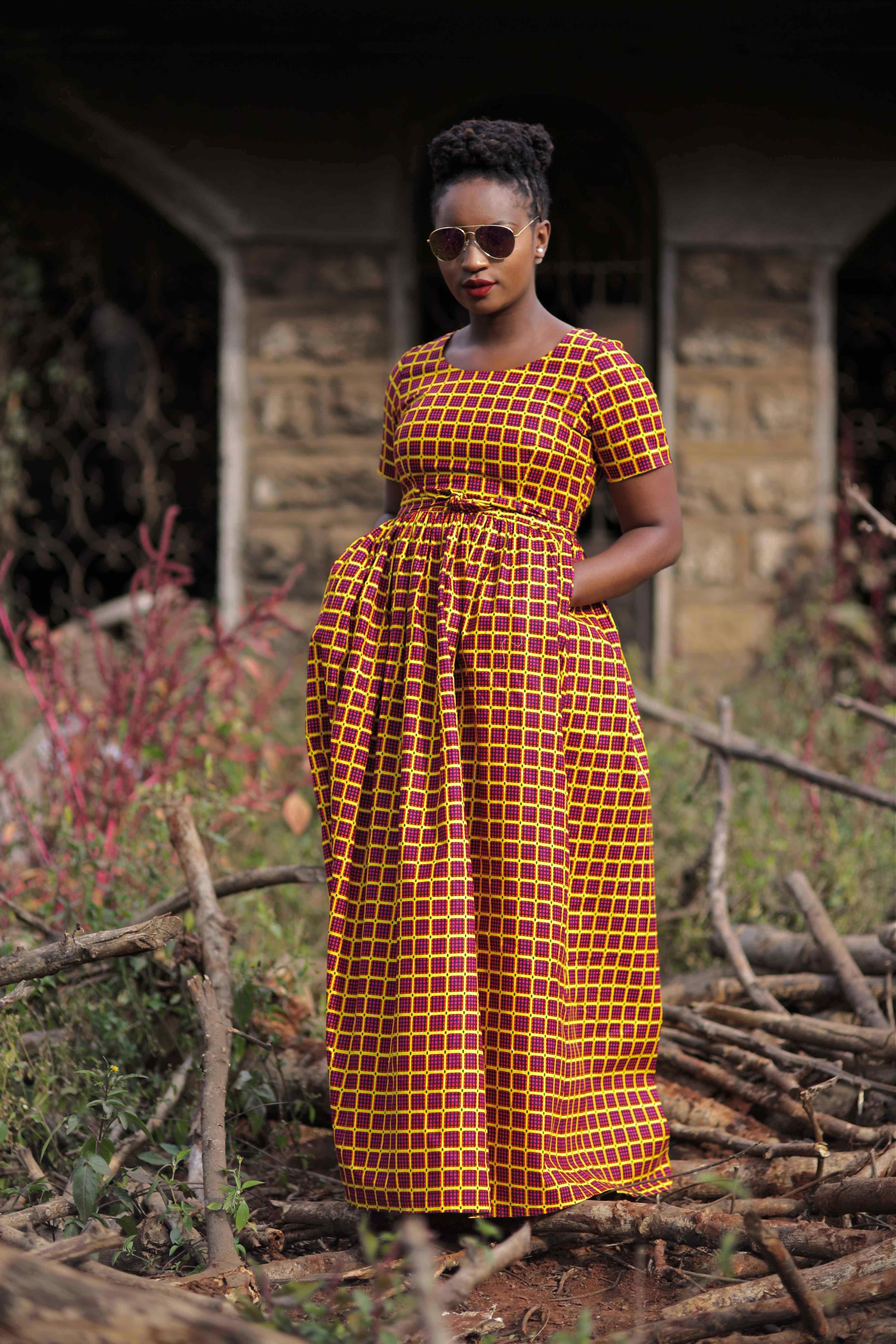 ankara maxi dress