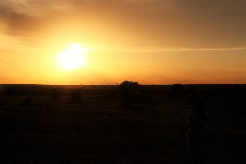 sunsets tsavo